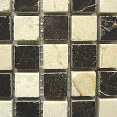 Diamond Tech Glass Stone Series 5/8 Polished Mosaic Crema Marfil/Emperador T726