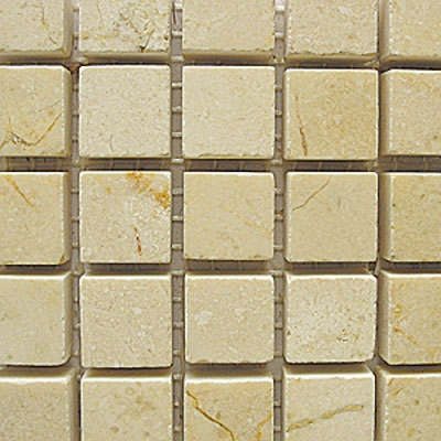 Diamond Tech Glass Stone Series 5/8 Polished Mosaic Crema Marfil T704