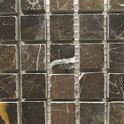Diamond Tech Glass Stone Series 5/8 Polished Mosaic Emperador Dark T706