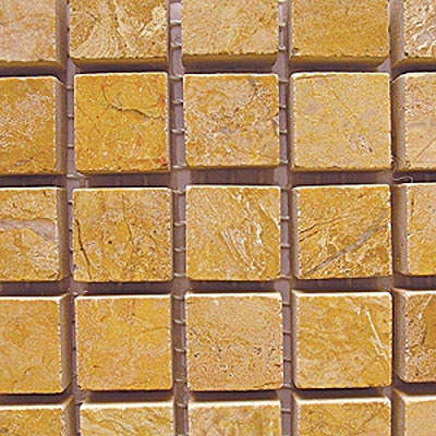 Diamond Tech Glass Stone Series 5/8 Polished Mosaic Gold Travertine T707