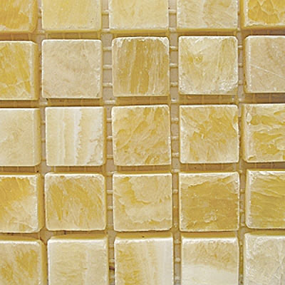 Diamond Tech Glass Stone Series 5/8 Polished Mosaic Honey Onyx T709