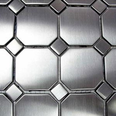 Diamond Tech Glass Metal Series Mosaic Octagon Dots TML07