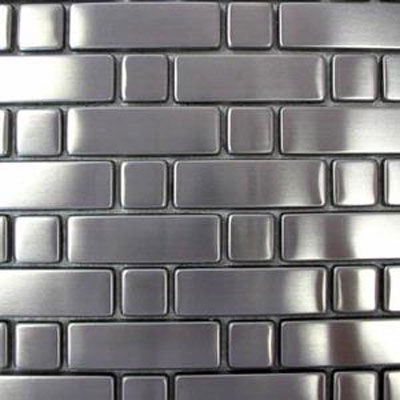 Diamond Tech Glass Metal Series Mosaic Rectangle Square TML03