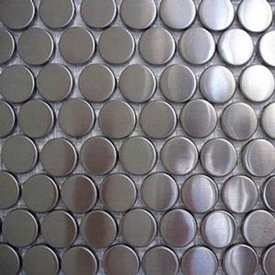 Diamond Tech Glass Metal Series Mosaic Rounds TML04
