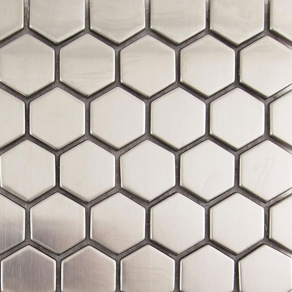 Diamond Tech Glass Metal Series Mosaic Small Hexagon TML18