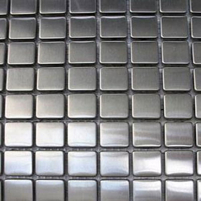 Diamond Tech Glass Metal Series Mosaic Small Square TML01