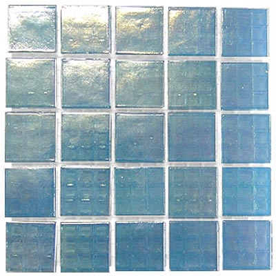 Diamond Tech Glass Platinum Mosaic Series Pastel Blue Mist T413