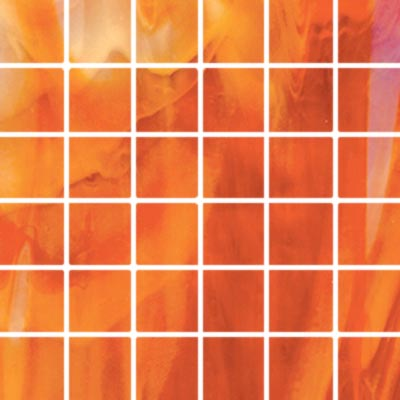 Diamond Tech Glass Stained Glass Mosaic Bright Orange T115B-2