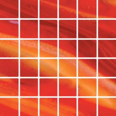 Diamond Tech Glass Stained Glass Mosaic Bright Red T116B-2