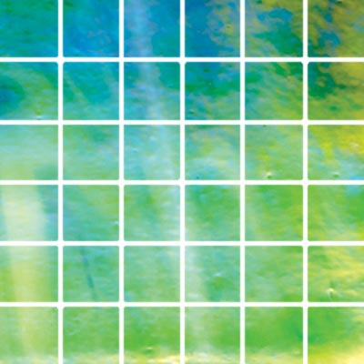 Diamond Tech Glass Stained Glass Mosaic Bright Green Iridescent T113BL-2