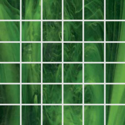 Diamond Tech Glass Stained Glass Mosaic Verde T112-2