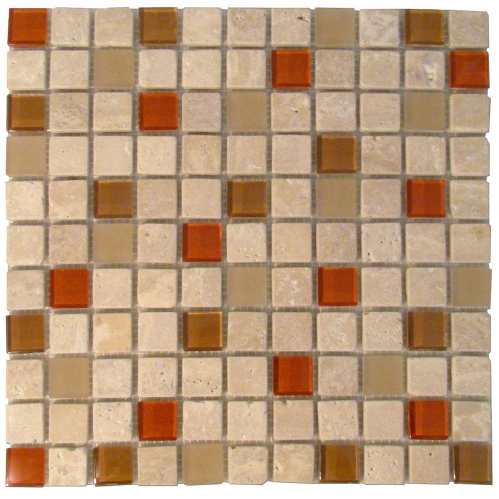Diamond Tech Glass Travertine & Glass Mixes Auburn TT111