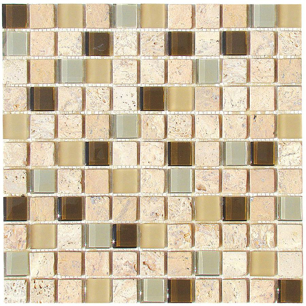 Diamond Tech Glass Travertine & Glass Mixes Fennel TT110
