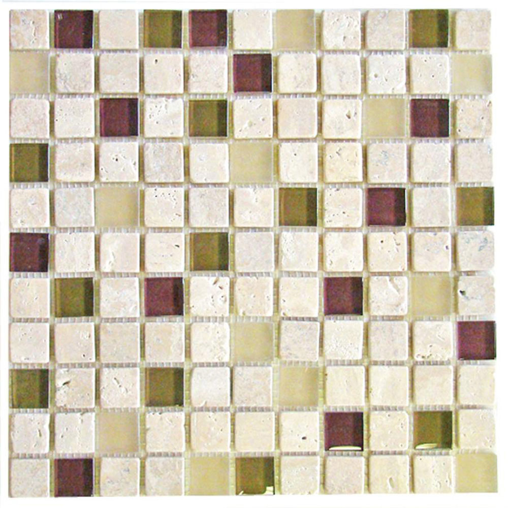 Diamond Tech Glass Travertine & Glass Mixes River Rouge TT112