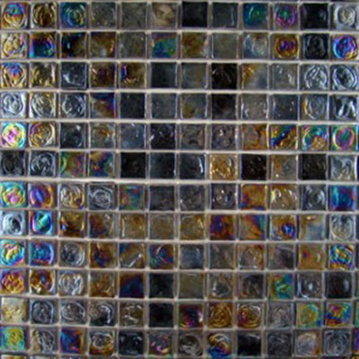 Diamond Tech Glass Vista 3/4 x 3/4 Iridescent Mosaic Cocoon TV406