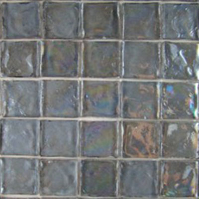 Diamond Tech Glass Vista 1 5/8 x 1 5/8 Iridescent Mosaic Harbor Mist