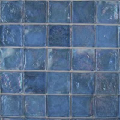 Diamond Tech Glass Vista 1 5/8 x 1 5/8 Iridescent Mosaic Fountain Blue