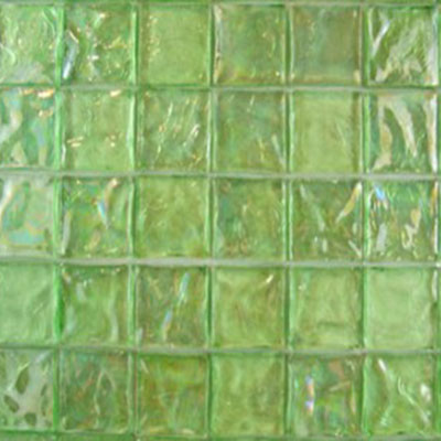 Diamond Tech Glass Vista 1 5/8 x 1 5/8 Iridescent Mosaic Gecko