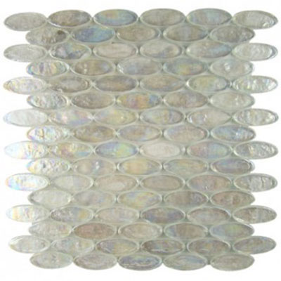 Diamond Tech Glass Vista 2 x 3/4 Oval Iridescent Mosaic Restful