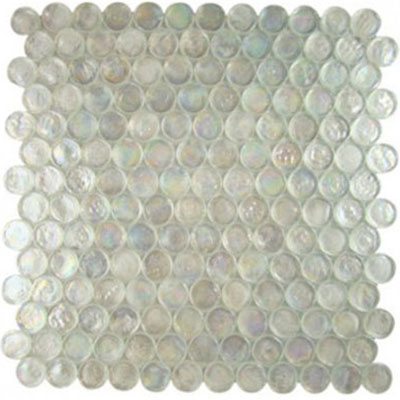Diamond Tech Glass Vista 7/8 Round Iridescent Mosaic Restful TV440