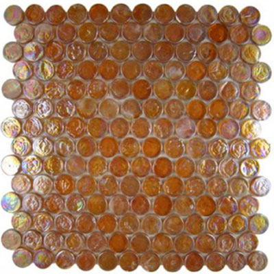 Diamond Tech Glass Vista 7/8 Round Iridescent Mosaic Relic Brown TV443