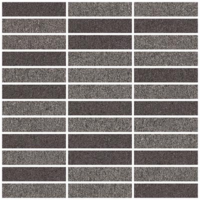 Eleganza Tiles Basaltina Mosaic 12 x 12 sheet (1 x 4) Dark Blend