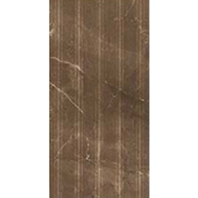 Eleganza Tiles Digiwall 9 x 18 Lignes Deco Polished Marron