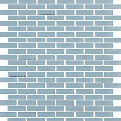 Eleganza Tiles Vetro Staggered Brick Crystal Blue Staggered Brick GLV3802