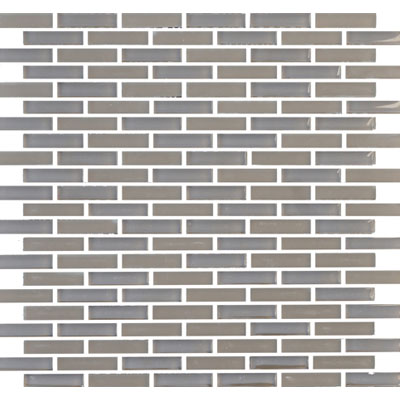 Eleganza Tiles Vetro Staggered Brick Midnight Grey Staggered Brick GLV3805