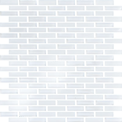 Eleganza Tiles Vetro Staggered Brick Snow White Staggered Brick GLV3801
