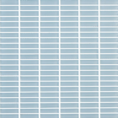 Eleganza Tiles Vetro Straight Brick Crystal Blue Straight Brick