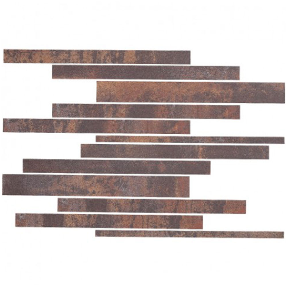Eleganza Tiles Metallica 12 x 12 Subway Mosaic Brown