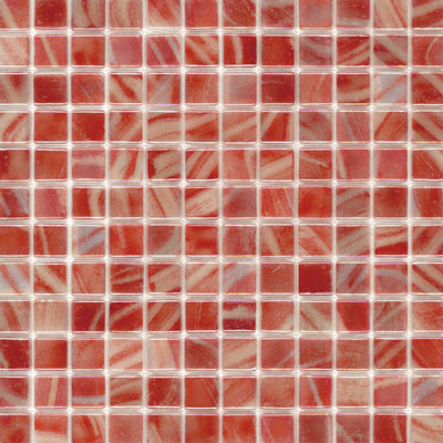Elida Ceramica Recycled Glass Water Mosaic Tomato ELIEK202