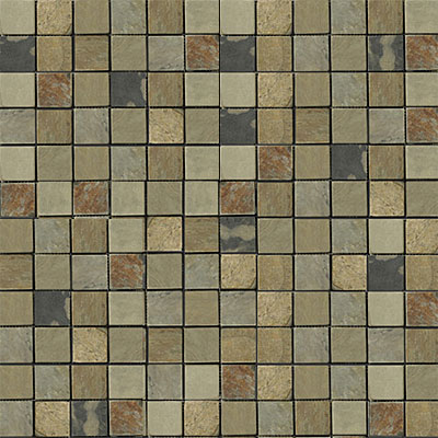 Emser Tile Antique & Tumbled Stone Mosaic 1 x 1 Square Slate Tumbled Autumn Lilac