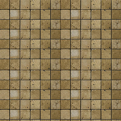 Emser Tile Antique & Tumbled Stone Mosaic 1 x 1 Square Trav Ancient Tumbled Mocha