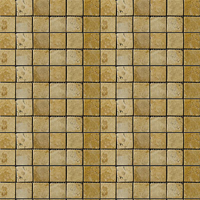 Emser Tile Antique & Tumbled Stone Mosaic 1 x 1 Square Trav Ancient Tumbled Oro