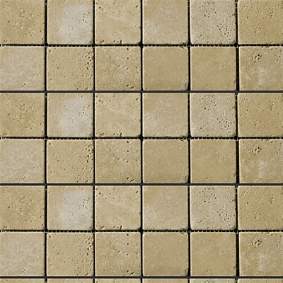 Emser Tile Antique & Tumbled Stone Mosaic 2 x 2 Square Trav Ancient Tumbled Beige