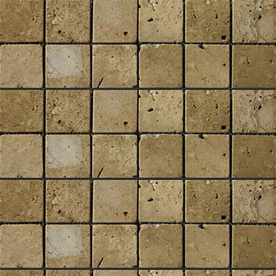 Emser Tile Antique & Tumbled Stone Mosaic 2 x 2 Square Trav Ancient Tumbled Mocha