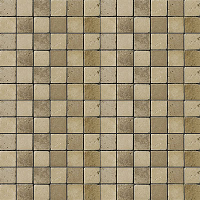 Emser Tile Antique & Tumbled Stone Mosaic Blends 1 x 1 Square Travis Ancient Tumbled Beige/Mocha