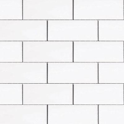 Emser Tile Classica Mosaic 1 x 2 White F88CLASWH1212OM