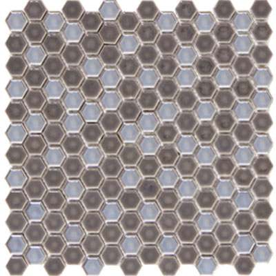 Emser Tile Confetti Hexagon Mosaic Pewter