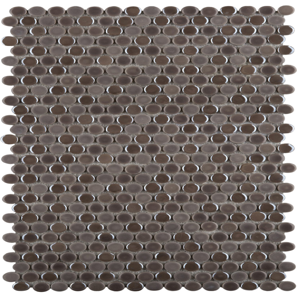 Emser Tile Confetti Oval Mosaic Pewter