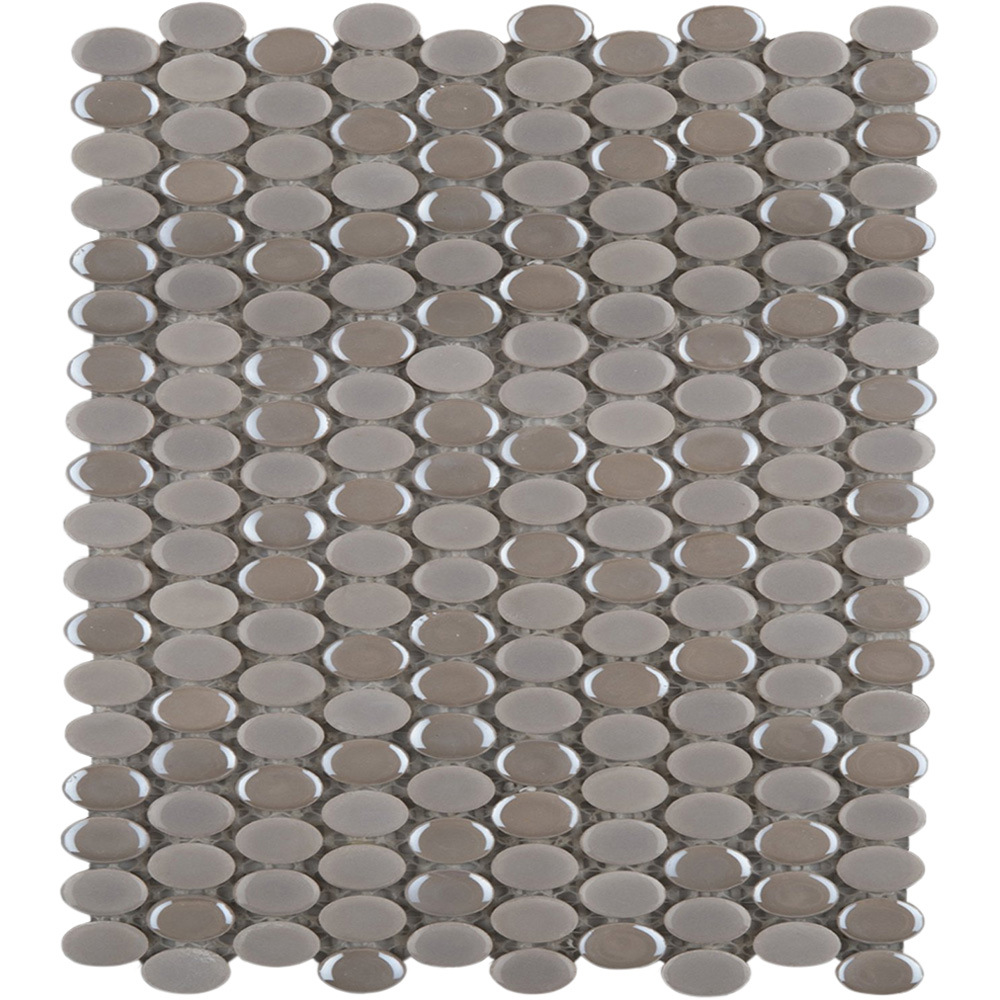 Emser Tile Confetti Oval Mosaic Silver
