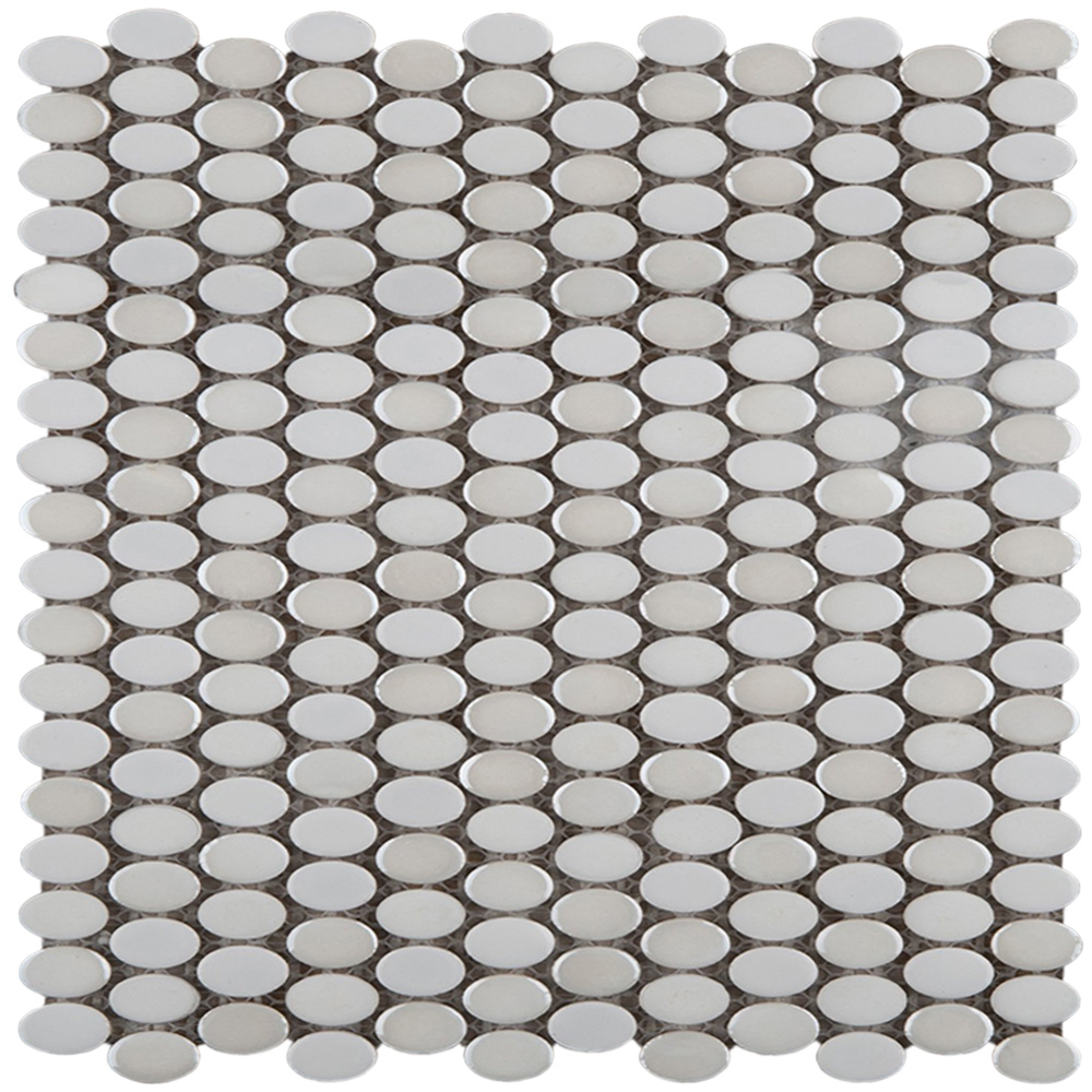 Emser Tile Confetti Oval Mosaic White