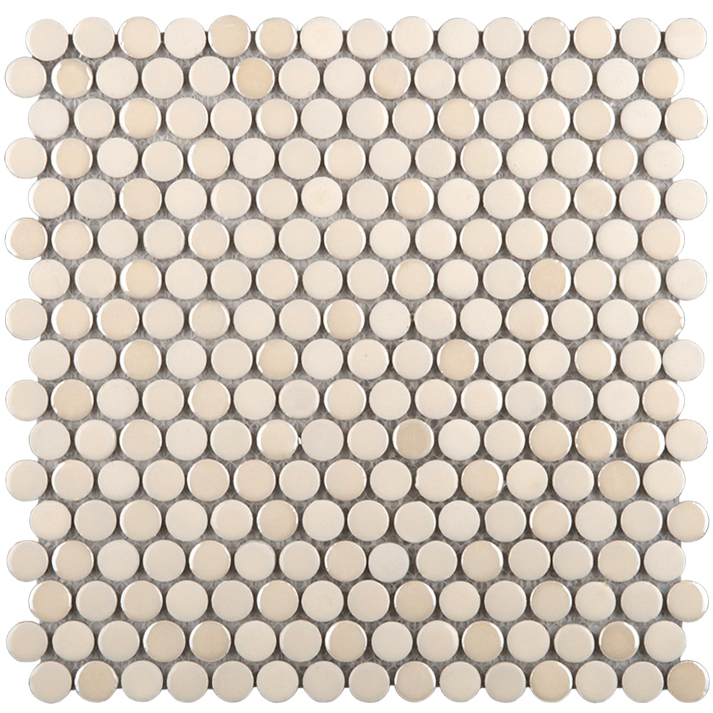Emser Tile Confetti Penny Round Mosaic Cream