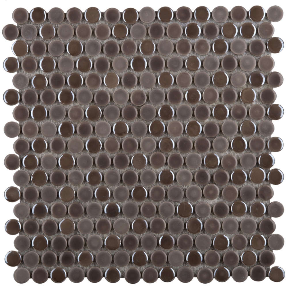 Emser Tile Confetti Penny Round Mosaic Pewter