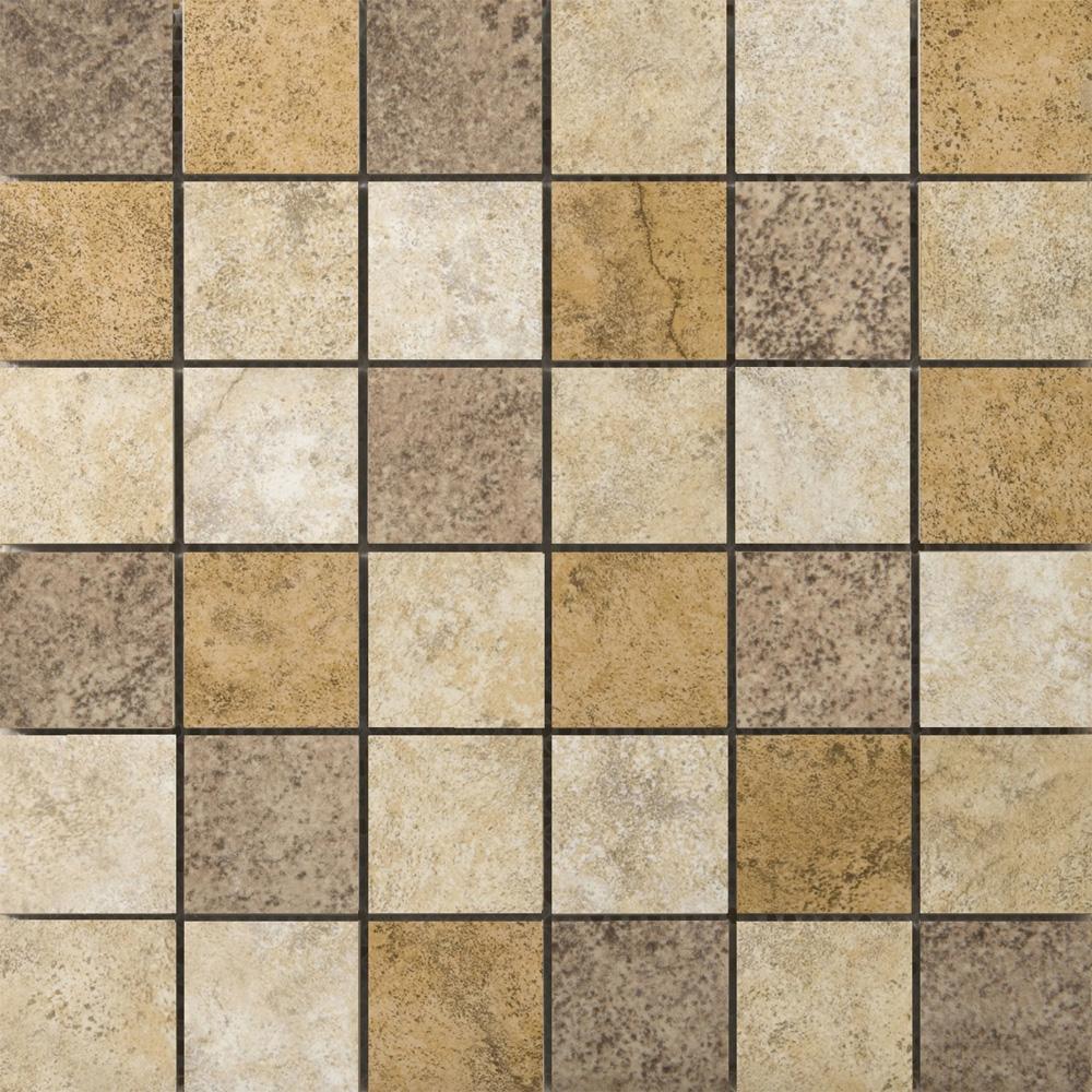 Emser tile toledo mosaic blend tile stone colors for 13x13 ceramic floor tiles