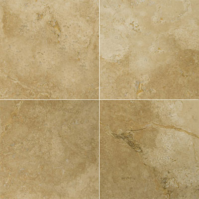 Emser Tile Travertine Unfilled & Honed 18 x 18 Ivory Classic Antique
