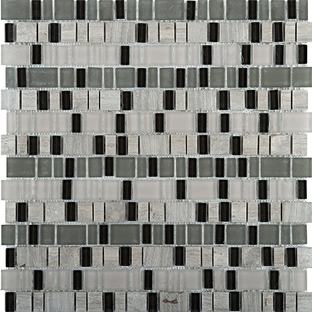 Emser tile unique thin glass and stone mosaic blend ode for Unique mosaic tile