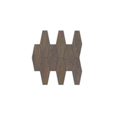Ergon Tile Elegance Mesh Mosaic Exagon Brown C30776